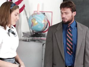 Teacher Punishes A Naughty Schoolgirl With His Cock