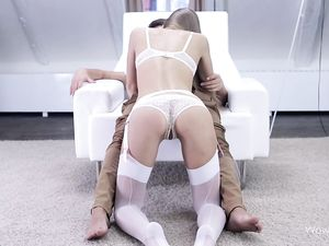Sex With A Hot Slut In Smoking Hot White Lingerie