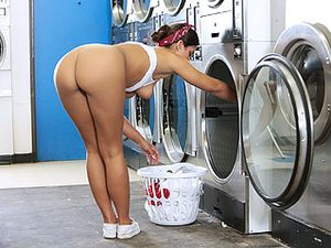 Thick Cock Fucks A Cutie Doing Her Laundry