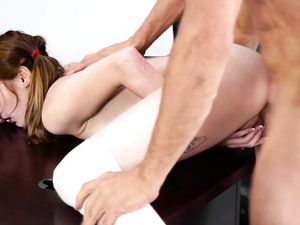 Slutty Schoolgirl Fucked Aggressively By Her Teacher