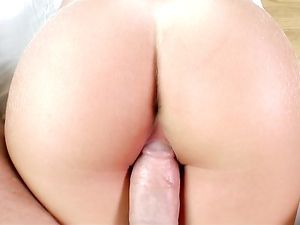Petite Blue Eyed Brunette Teen Is His Fuck Slut