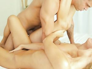 Gorgeous Teen Cocksuckers Fucked By His Thick Boner