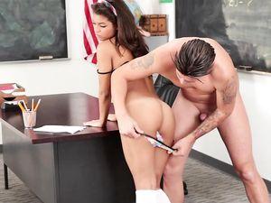 Schoolgirl In Knee Highs Fucks Her Horny Teacher