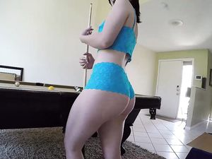 Lingerie Girl Sucks And Fucks In Sexy Blue Panties