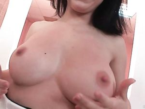 Perfect Natural Boobs On A Double Anal Teen