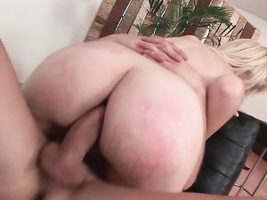 Cock Owns The Ass Of This Skinny Blonde Teenager