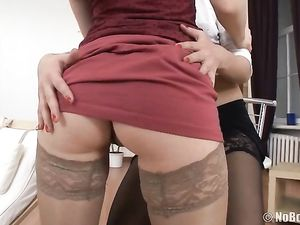 Stockings Look Hot On The Lesbian Tease Teens
