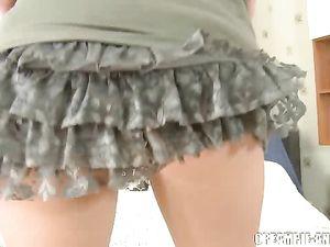 Slutty Skirt And Sexy Heels On The Hardcore Teen
