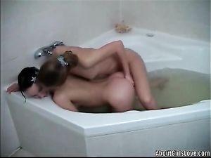 Amateur Teen Lesbian Couple Takes A Sexy Bath