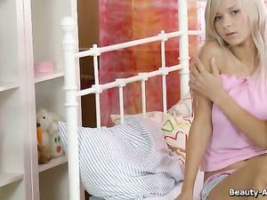 Masturbating Young Blonde With Perfect Perky Breasts