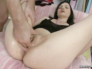Beautiful Teen Fingered Hard And Fucked Harder