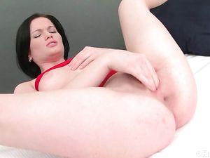 Solo Russian Girl Fucking Her Gigantic Dildos