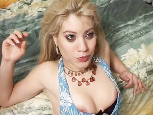 Dildo Fucking Latina Enjoys A Real Cock As Well