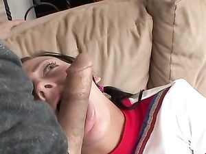 Cheerleader Slut Rides Him With Her Perfect Wet Pussy