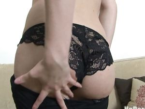 Black Lace Panties Are Perfect On Her Hot Ass