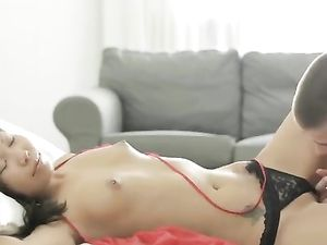 Sexy Asian Chick Gets Her Narrow Booty Fucked
