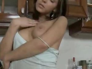 Asshole Of A Young Brunette Gets Pounded
