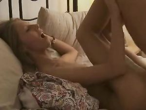 Smiling Blonde Darling Gets Her Muff Pounded