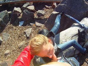 Outdoor Blowjob And A Hot Doggy Style In POV