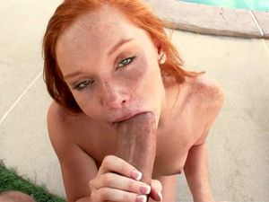 Freckles Make Young Redhead Hotter Than Ever