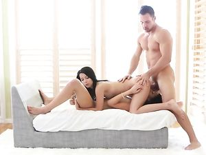 Fucking Young Pussies In A Wild Teen Threesome