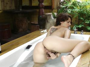 Masturbating On Vacation In The Lovely Bathtub