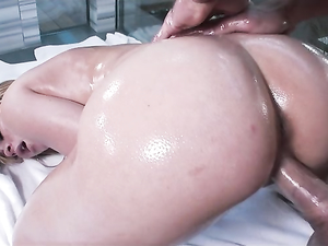 Busty Oiled Up Beauty Fucked In The Shower