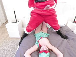 Santa Stuffs His Big Dick Into A Petite Elf
