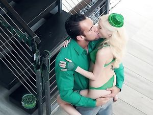 Petite St Patricks Day Slut Fucks Her Boyfriend