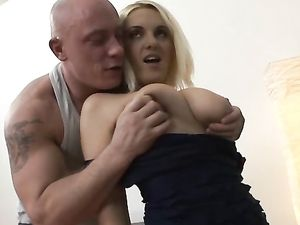 Rimming The Curvaceous Blonde And Fondling Her Titties