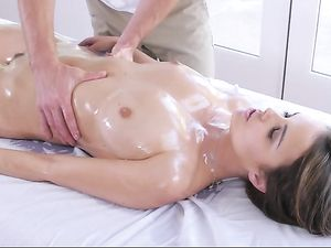 Massaging Dillion Harper And Filling Her With Cock