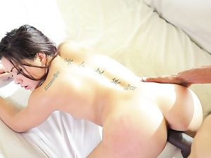 Black Dick Fills The Gorgeous Asian Girl So Deeply