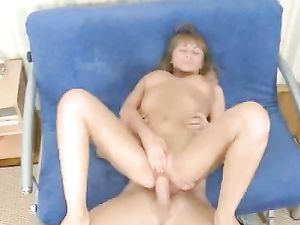 Babe In A G-String Pounded From Behind By A Big Dick