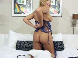 Chubby Blonde Gets Pounded And Receives A Cum Shot