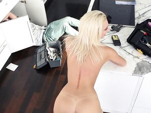 Tiffany Watson Gives Her Cousin a Five Star Sneaky Blowjob