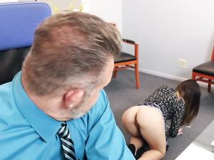 Young Sexy Secretary Isn't Wearing Panties Today. Omg!