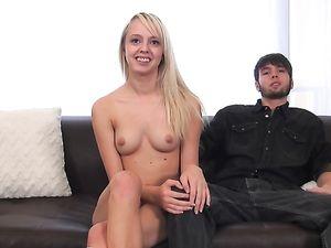 Teen Invites Her Boyfriend For A Porn Casting Fuck
